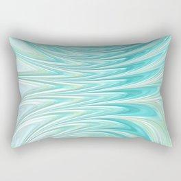 Teal Dreams Collection (6) - Fractal Art  Rectangular Pillow