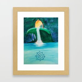 Waterfall Gateway Framed Art Print