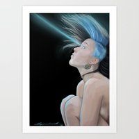 Laser Art Print