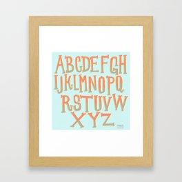 the ABC's Framed Art Print