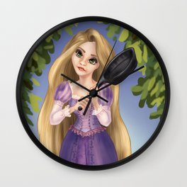 A Tangled Mansion Wall Clock