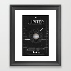OMG SPACE: Jupiter 1970 - 2010 Framed Art Print