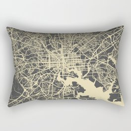 Baltimore map yellow Rectangular Pillow