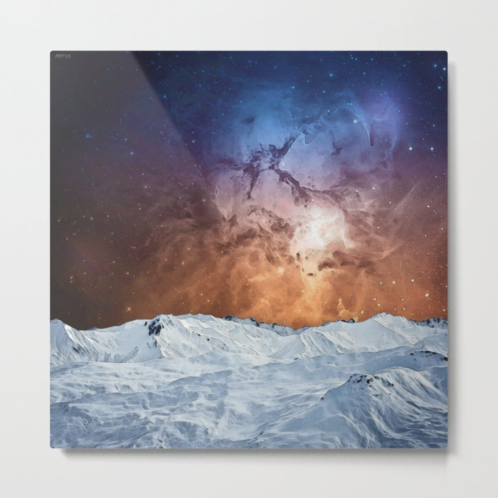 Cosmic Winter Landscape Metal Print