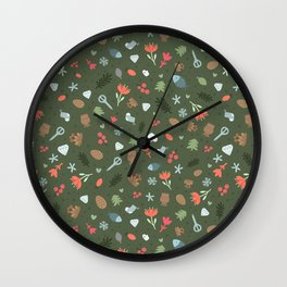 Ethnic Yakutian pattern Wall Clock