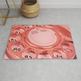 Vintage Telephone Photograph Rug