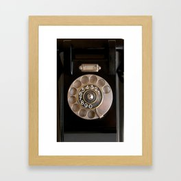 OLD BLACK PHONE Framed Art Print