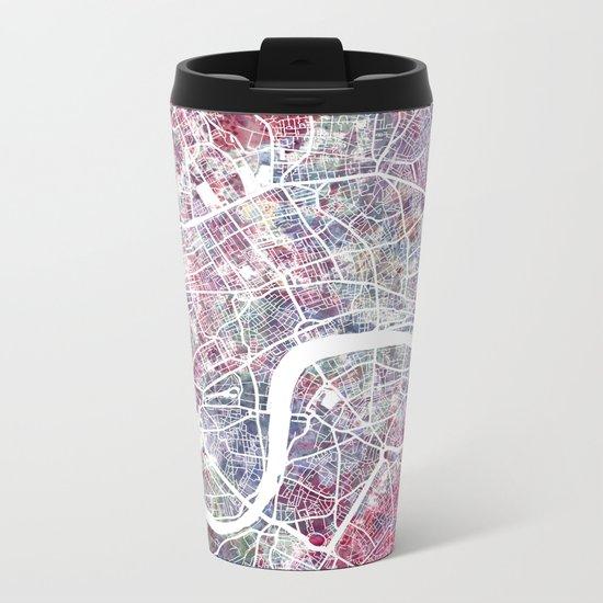 London map Metal Travel Mug