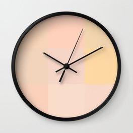 Pastel peach shades Wall Clock