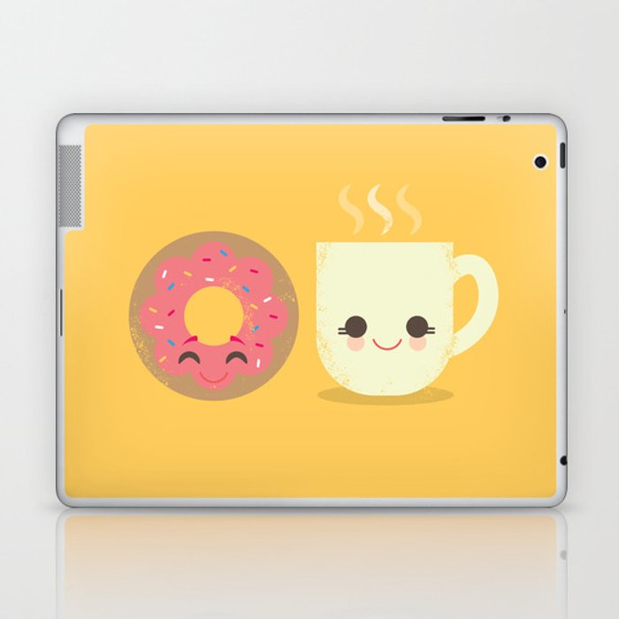 Coffee and Donut Buds Laptop & iPad Skin
