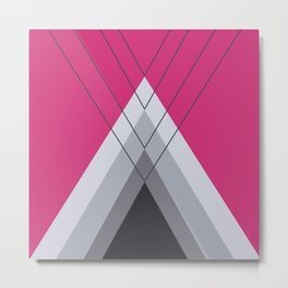 Iglu Pink Yarrow Metal Print
