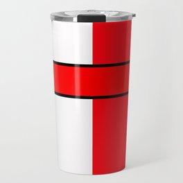 Team Color 6...red,white Travel Mug