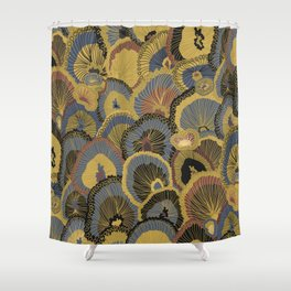 Tree Huggers in Gold Shower Curtain