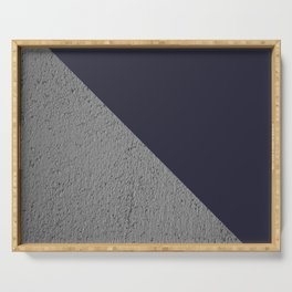 Geometrical Color Block Cement vs  vs evening blue Serving Tray