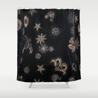 constellations Shower Curtains featuring Constellations  by dreamshade