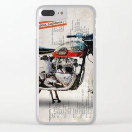 Triumph Bonneville T120 1956 Clear iPhone Case