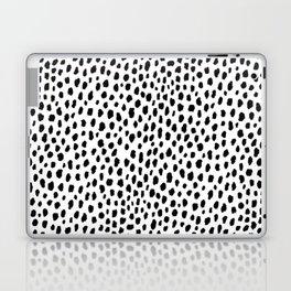 Dalmatian Spots (black/white) Laptop & iPad Skin