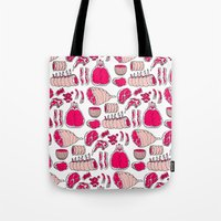 meat Tote Bags featuring Meat by Rot Rabbit