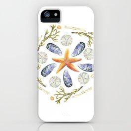 Tide Pool Beach Mandala 3 - Watercolor iPhone Case
