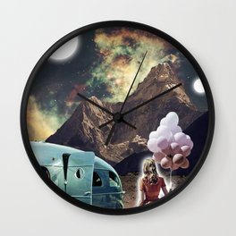 Girl with Balloons Wall Clock