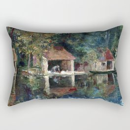 Asai Chu Washing Place in Grez-sur-Loing Rectangular Pillow