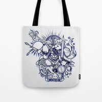 doodle Tote Bags featuring Doodle by Puddingshades
