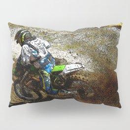 Round the Bend - Dirt-Bike Racing Pillow Sham