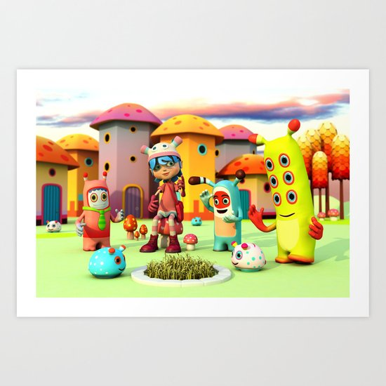 Lilly in Pixyland - The Frings Village Art Print