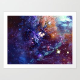Bright nebula Art Print