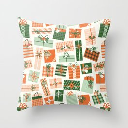 Christmas Presents Throw Pillow