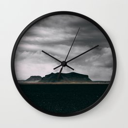 Dark Iceland Wall Clock
