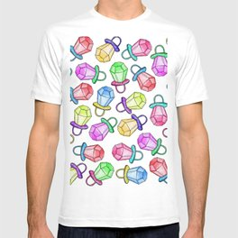 Retro 80's 90's Neon Colorful Ring Candy Pop T-shirt
