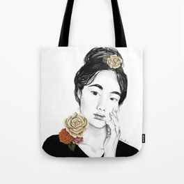 Flower sun bursts - floral portait 3 of 3 Tote Bag