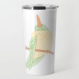 Cute Hummingbird on a Branch Illustration Travel Mug