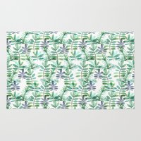 leaf Area & Throw Rugs featuring Leaf by BLEH collective