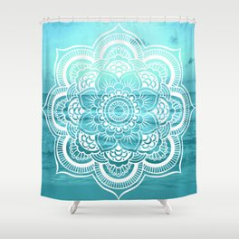 Mandala : Aqua Sunset Waters Shower Curtain