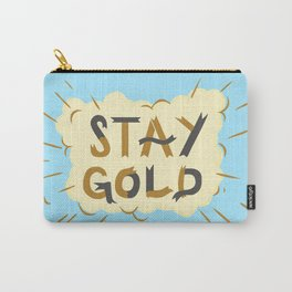 Stay Gold Print Carry-All Pouch