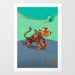 Astro Zodiac Force 03: Tiger Art Print
