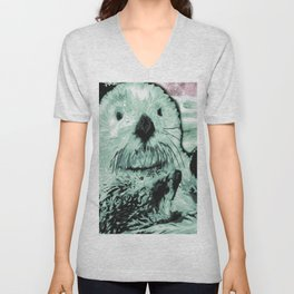 Sea Otter Unisex V-Neck