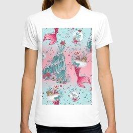 Christmas Mermaid Patterns 12 T-shirt
