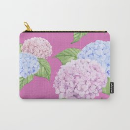 Pink Hydrangeas Carry-All Pouch