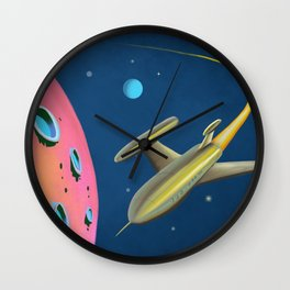 Fantastic Adventures in Outer Space Wall Clock