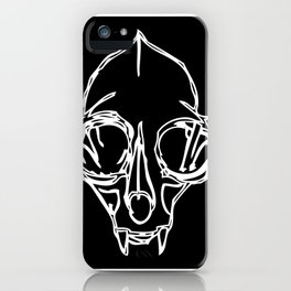 Madam Salami Cat Skull iPhone Case