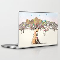 merry christmas Laptop & iPad Skins featuring MERRY CHRISTMAS!!!!! by Jo Cheung Illustration