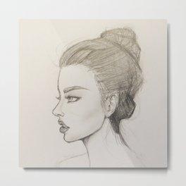 Female portrait bust Metal Print