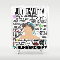 college Shower Curtains featuring Joey Graceffa College by BethTheKilljoy