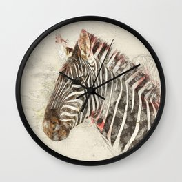 Zebra - Painted sketch Wall Clock