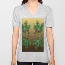 Pine Boughs Unisex V-Neck