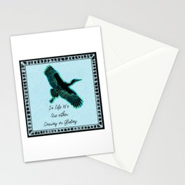 Bird Soaring and Gliding Quote Stationery Cards