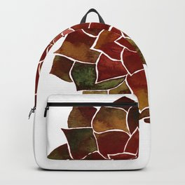 Succulent watercolor painting Backpack